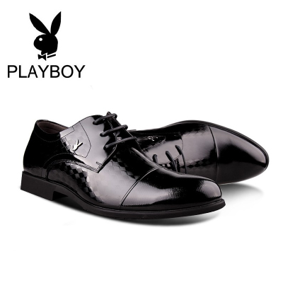 Playboy men's 2014 autumn new models genuine leather men's shoes wedding shoes Korean casual breathable