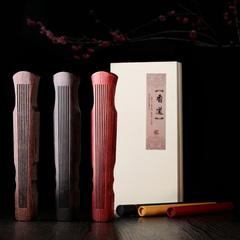 红木镂空古琴线香炉 黑檀木质卧香炉 鸡翅木线香盒檀香炉香薰炉
