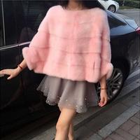 2016冬季新款韩版仿皮草毛毛大衣仿水貂毛外套短款斗篷披肩上衣女