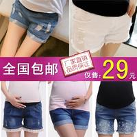 孕妇牛仔短裤2014新款时尚春夏款韩版五分裤孕妇装托腹孕妇裤
