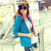 春秋装少女装外套帽衫上衣女式卫衣运动长袖开衫薄款