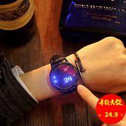 创意个性智能简约LED夜光触摸屏手表炫酷男女学生星空情侣表