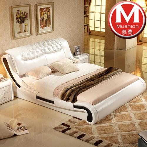 кожаная кровать MU home  1.8 1.5