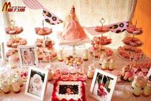 哲天津聚会_麦力康北京天津翻糖蛋糕儿童百天周岁茶歇甜品台聚会生日宴布置