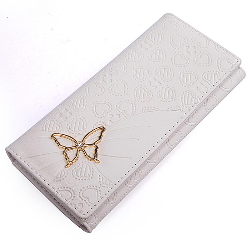钱包女长款韩版可爱女士钱包2014新款蝴蝶拉链零钱包钱夹皮夹包邮