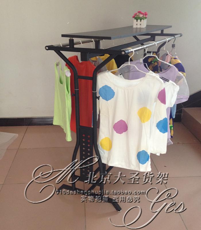 витрина для одежды Новая Одежда стойки Дисплей стенд вешалка этаж брусья в одежде остров полках показаны Детская одежда магазин