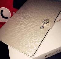 超薄iPad air1 air2 休眠iPad3/4 MINI1/2/3/4保护套水钻韩国防摔