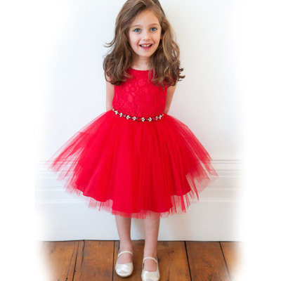 Hot girls kids summer Princess dress lace figure skirt T330