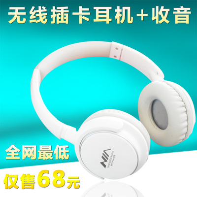 NIA 8001 ++ memory card wireless card earphone headset phone headset MP3 Sport Music Headset