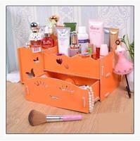 桌面整理盒抽屉式木质化妆品梳妆台储物盒收纳箱特价包邮年终大促
