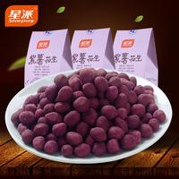 星派连城特产龙岩花生紫薯花生200g*3休闲零食坚果新鲜花生米炒货