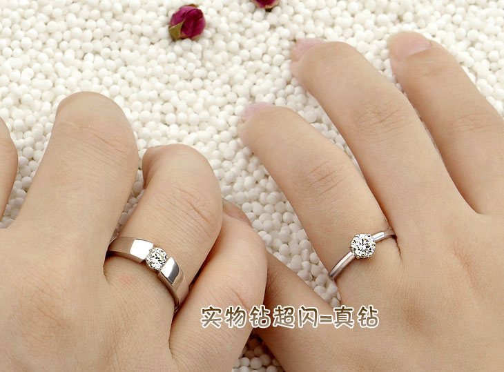JPF lettering wedding ring 925 silver couple rings male female