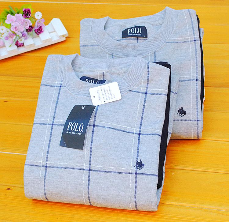 Пижама Оригинальные внешней торговли Dan Qiu сгущаться Мужская одежда зимой Вязание Хлопок, заданные плед пижамы