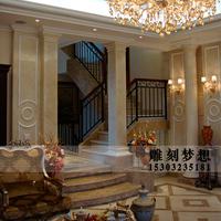欧式大理石罗马柱 石雕罗马柱婚庆室内柱子装饰 天然别墅石材雕刻