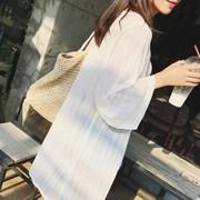 女装披肩开衫外套防晒衣夏季大码宽松防晒雪纺中长衫款薄