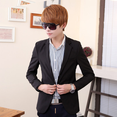 Business casual solid single Western male Korean Slim tide suit Men jackets 2014 fall clothes new suit