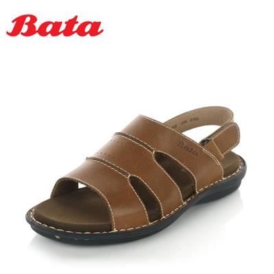 BATA genuine leather casual leather men's sandals in summer 2014 men's breathable Velcro A5E02BL4