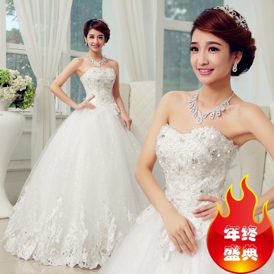 Bride wedding dress 2014 new winter fashion thickening Qi Bra wedding large size thin hunsha drill