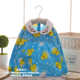 婴儿童薄款罩衣长袖纯棉布宝宝反穿衣秋季围兜兜倒褂吃饭衣外套褂