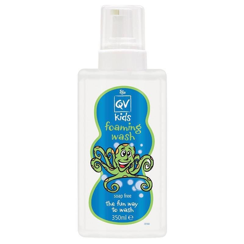 澳洲代购 Ego QV Kids Foaming Wash儿童抗敏泡泡洗发沐浴露350ml