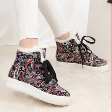 2014 new winter cotton shoes female students han edition shoes high help flat waterproof station platform and sandals women shoes