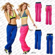 【亏本清仓】瑜伽健身减肥舞蹈练功轮滑运动服 男女梭织长裤 P71