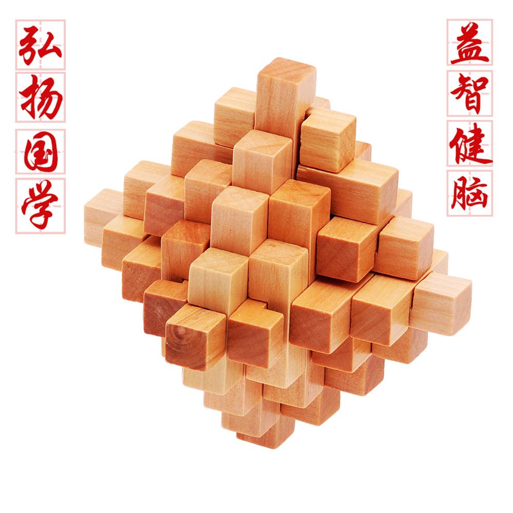 原创木质制鲁班锁 儿童成人礼物
