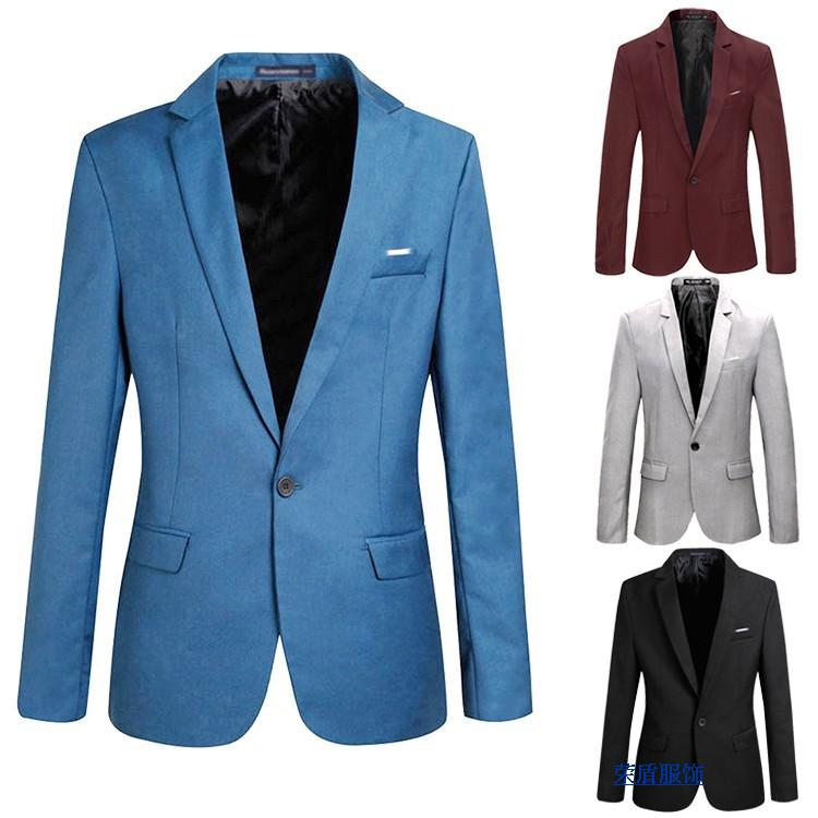Casual Blazer Men Fashion Plus Size Business Slim Fit Jacket