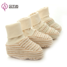 Bei qian ji organic cotton colored cotton baby autumn warm spats set high help baby toddler shoes step before new boots