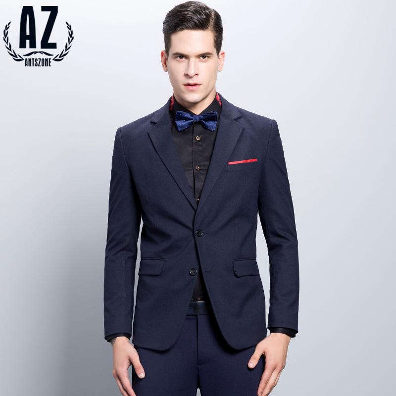 AZ蚁族窄领单排扣中开叉商务休闲男西服韩版修身潮便服单西装
