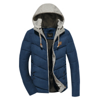 棉衣2015冬季新款男士棉衣外套纯色连帽上衣韩版男装时尚修身棉服