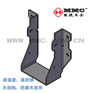梁托连接件 U型挂件 木屋木结构别墅金属配件 JUS-76C 固捷五金