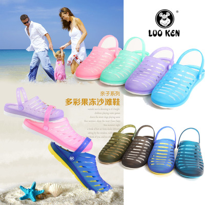 Hole hole shoes authentic Locke LOO KEN KEN men shoes The jelly couple sandals, slippers The bird's nest slippers leisure men and women