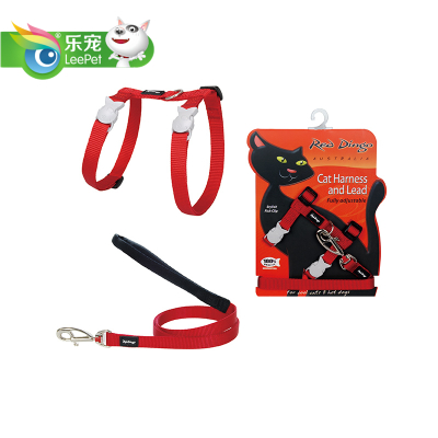 Free shipping RedDingo cat harness-type harness with leash stroll word cat suit cat pull strap with
