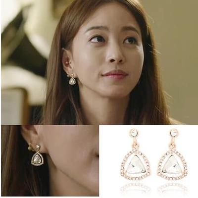 South Korea imported jewelry beauty born Sarah Han Ye Seul same paragraph zirconium earrings 925 needles earrings
