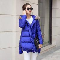 新款中长款冬季女装时尚拉链保暖韩版羽绒服002
