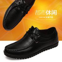 手工休闲皮鞋成熟男人爸爸鞋中老年软面皮吸汗透气防臭红棕色男鞋