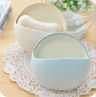 包邮简约时尚肥皂盒 超强吸力沥水吸盘香皂盒 创意皂架有沥水口