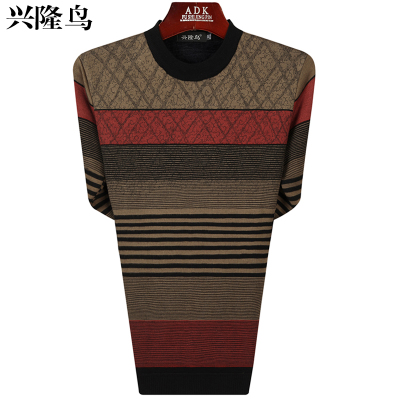 Bird booming middle-aged men plus thick hair coat hedging round neck knitted sweaters for men aged father loaded