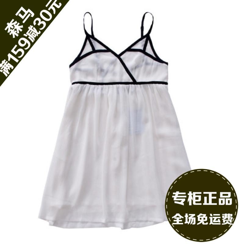 semir/森马 夏装女款性感雪纺吊带连衣裙102150609图片