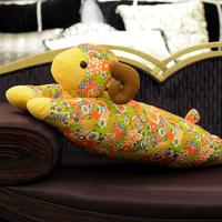 毛绒玩具羊公仔创意花布抱枕本命年礼物长抱羊娃娃吉祥物特价包邮