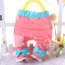 Han edition dot bow panties seven girls leggings summer wear new cute cartoon baby pants