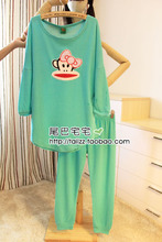 Tail kei igawa autumn new women's sweet bowknot pajamas cute air layer cotton long leisurewear suit