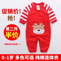 婴儿连体衣服女宝宝新生儿纯棉薄6哈衣春秋冬夏季1岁春装0男3个月