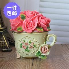 欧式复古玫瑰公主首饰盒创意结婚生日礼物韩国家居饰品戒指盒