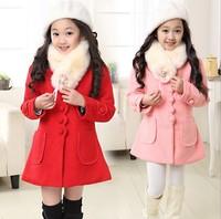 大童装女童毛呢外套儿童妮子大衣10-12-13-15岁女孩冬装2015新款