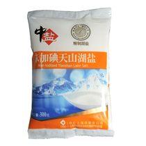 【天猫超市】中盐未加碘天山湖盐300g食用盐盐巴细盐新老包装替换