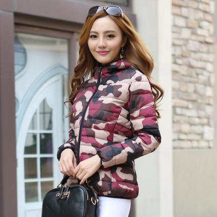 韩版短款迷彩棉服 多色可选择