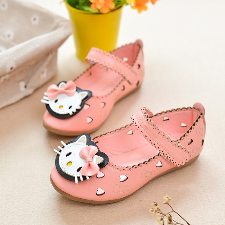 Korean girls shoes sandals cute KT cat hollow princess girls shoes girls shoes 2014 autumn and summer models