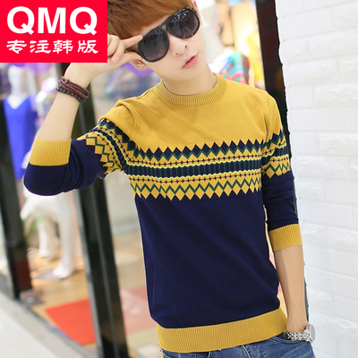 Youth sweater male Korean tide Qiuyi Slim Men Tee 2014 autumn and winter fashion sweater sweater